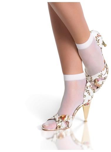 Pierre Cardin Parlak Soket Çorap Beyaz